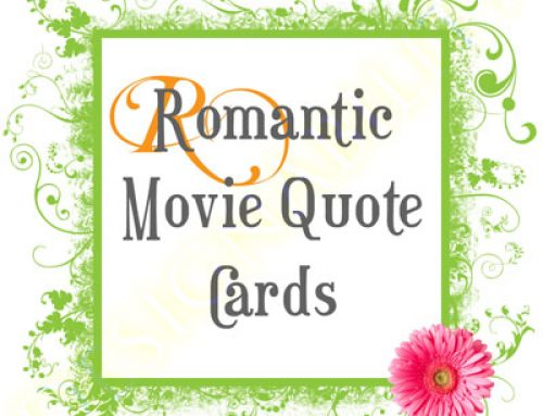 Romantic Movie Quote Card Fiasco