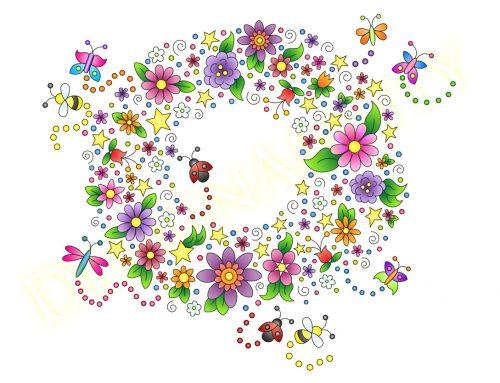 The Floral Wreath Card