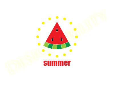 Summer Watermelon Circular
