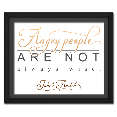 Angry People Brown Framed Quotation Picture