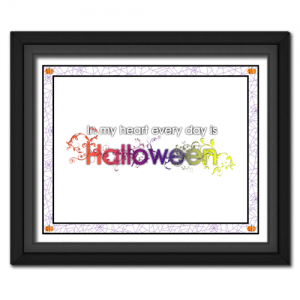 Halloween in My Heart | Quote Picture
