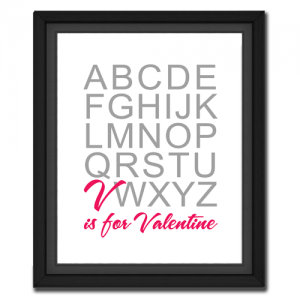 V is for Valentine | QuotePicture