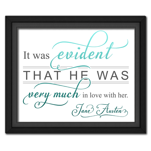 Evident Turquoise | Quotation Picture