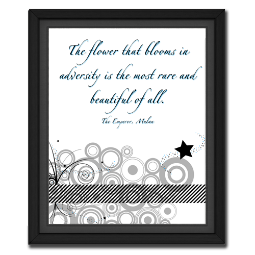 Flower in Adversity | Quote Picture