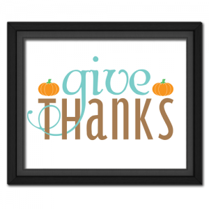 Give Thanks Fancy