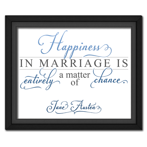 Happiness Blue | Quotation Picture