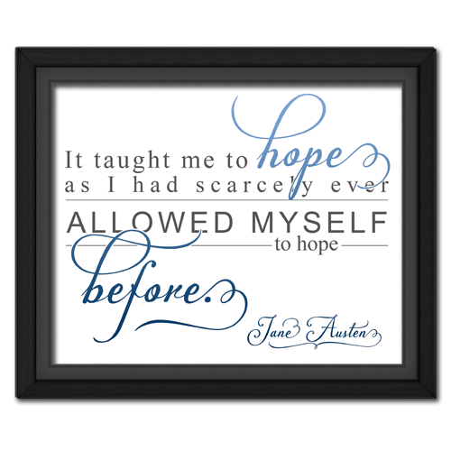Hope Blue | Quotation Picture