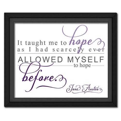 Hope Purple | Quotation Picture