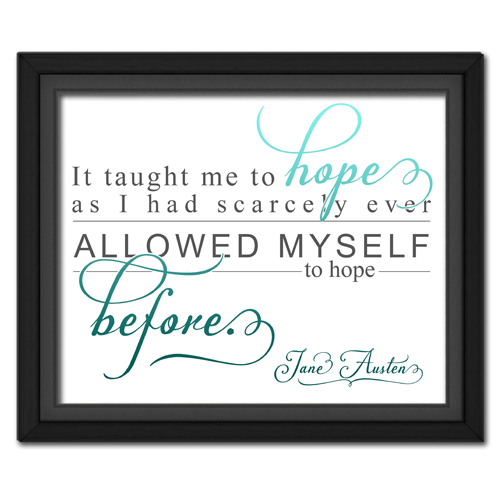 Hope Turquoise | Quotation Picture