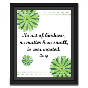 Kindness is Never Wasted | Quote Picture