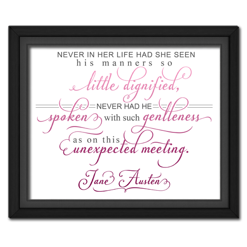 Unexpected Meeting Pink | Quotation Picture
