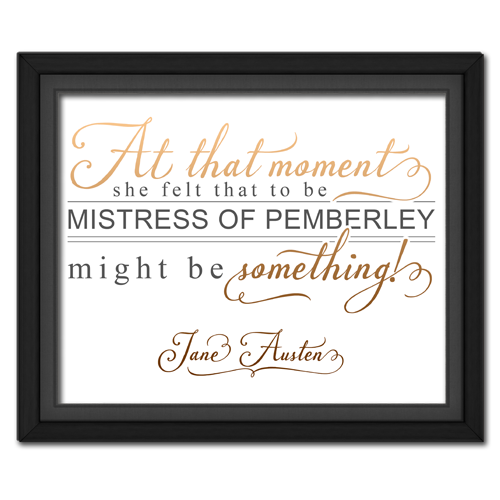 Mistress of Pemberley Brown | Quotation Picture