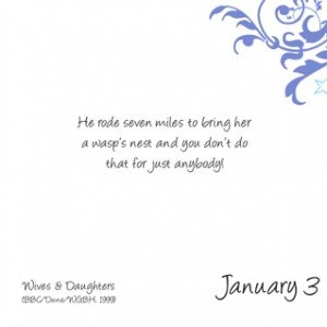 Romantic Movie Quote Calendar | January