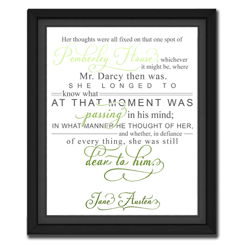 Thought Green | Quotation Picture