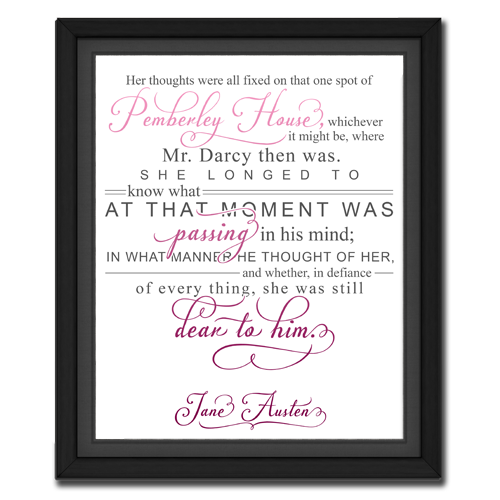 Thought Pink | Quotation Picture