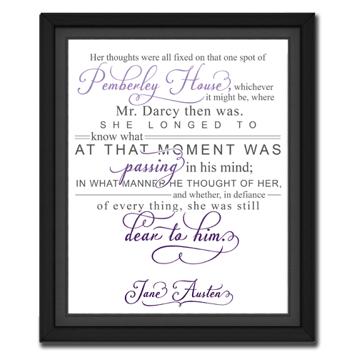 Thought Purple | Quotation Picture