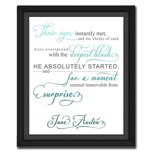 Surprise Turquoise | Quotation Picture