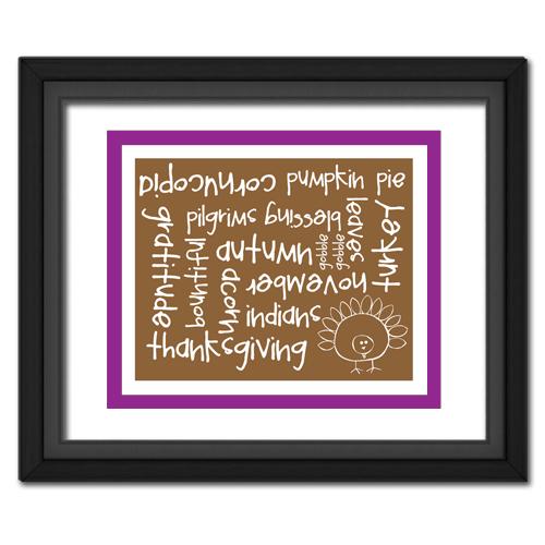 Thanksgiving Words Purple