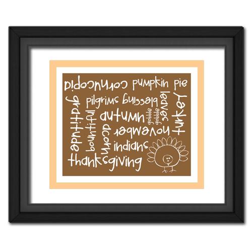 Thanksgiving Words Tan
