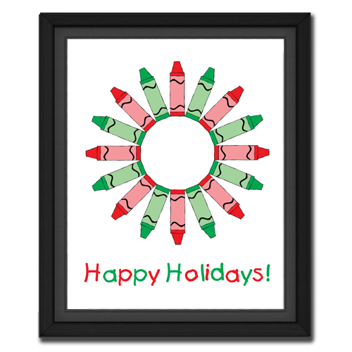 Holiday Crayon Wreath