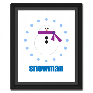 Snowman Circular Picture