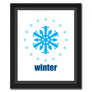 Winter Snowflake Circular Picture