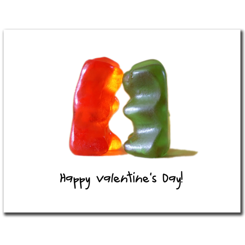 Gummy Valentine Card