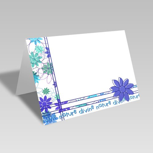 Daisy Spray Card | Blue | Divine Nature