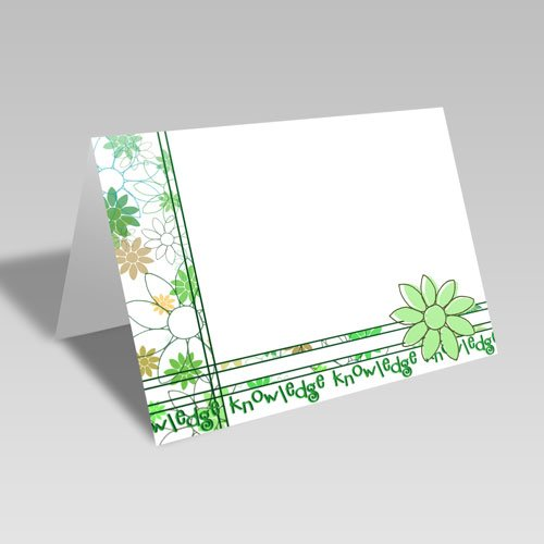 Daisy Spray Card | Green | Knowledge