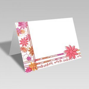 Daisy Spray Card | Red | Individual Worth