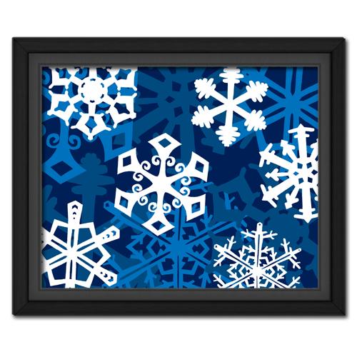 Snowflake Fantasy: Blue