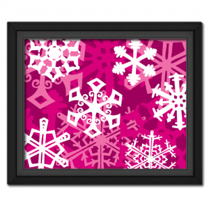 Snowflake Fantasy: Pink