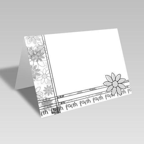 Daisy Spray Card | White | Faith