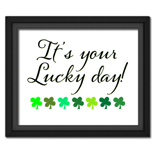 Lucky Day Printable