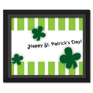 St. Patrick's Stripes Printable
