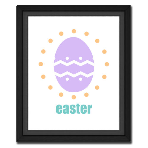 Easter Egg Circular Picture