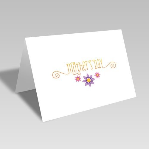 Floral Mother's Day Card - Orange