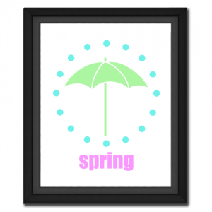Spring Umbrella Circular Picture