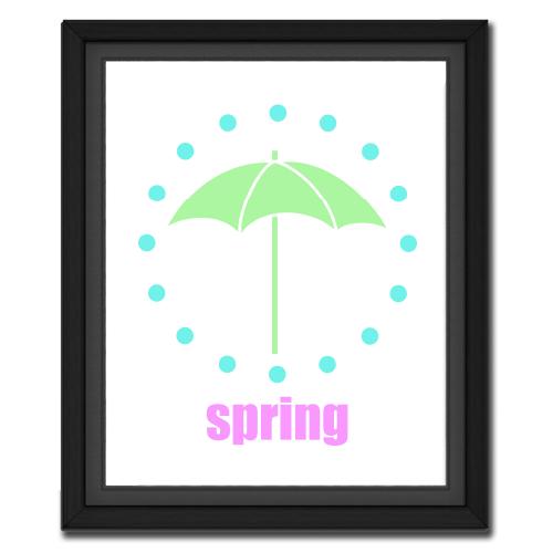 Spring Umbrella Circular Picture