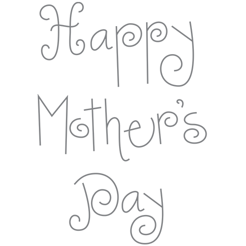 Mother's Day Bouquet Clip Art: Words