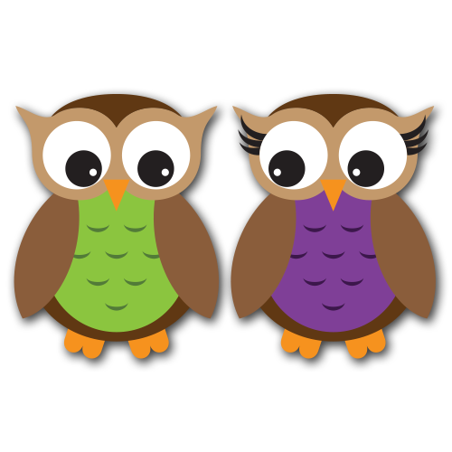 Owls Version 4 Clip Art SVG