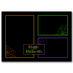 Halloween 3 Frame PSD Template