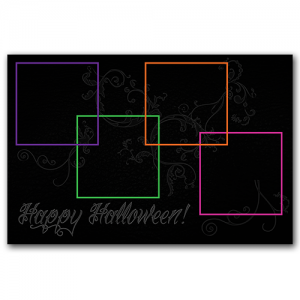 Halloween 4 Frame Collage PSD Template