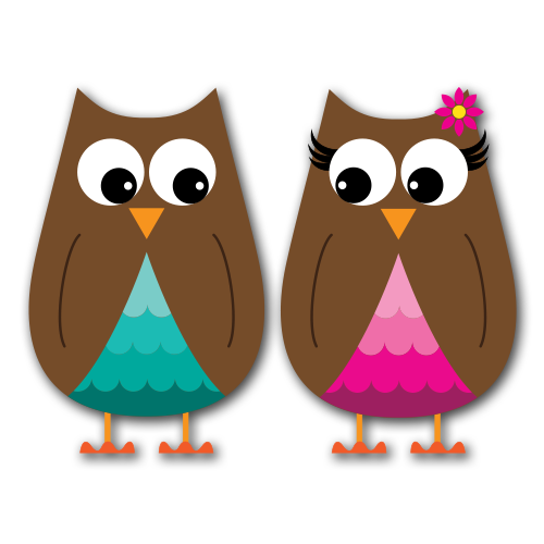 Owls Version 1 Clip Art