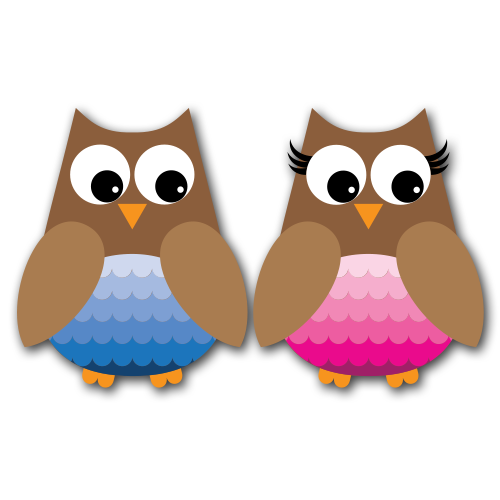 Owls Version 2 Clip Art