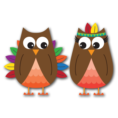 thanksgiving owls clip art svg 2 00 these thanksgiving owls will add ...