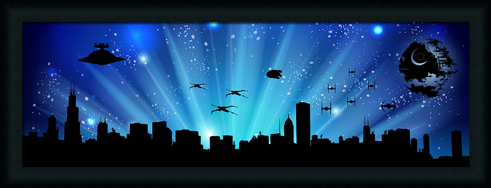 Chicago Skyline Star Wars Style (framed) #starwars #freedownload