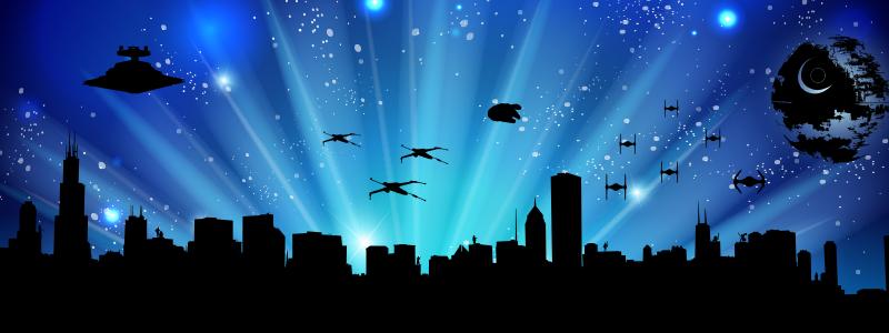 Chicago Skyline Star Wars Style #starwars #freedownload