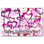 Valentine Hearts 5 Frame PSD Template