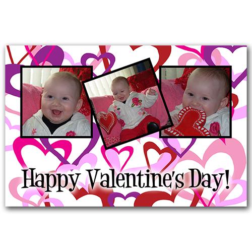 Valentine Hearts Trio PSD Template